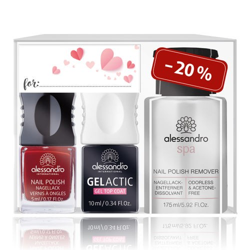 alessandro Perfcet Polish Set Velvet Red, 21-394