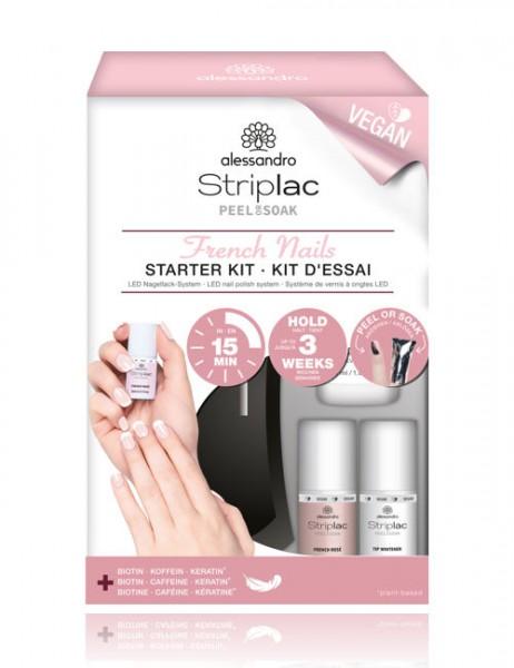 alessandro Striplac Peel or Soak Starter Kit French *VEGAN*, 48-521