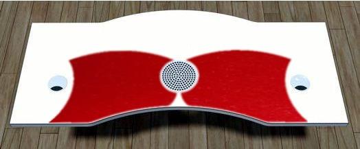 Kratzschutzfolie für Tischplatte, Rot