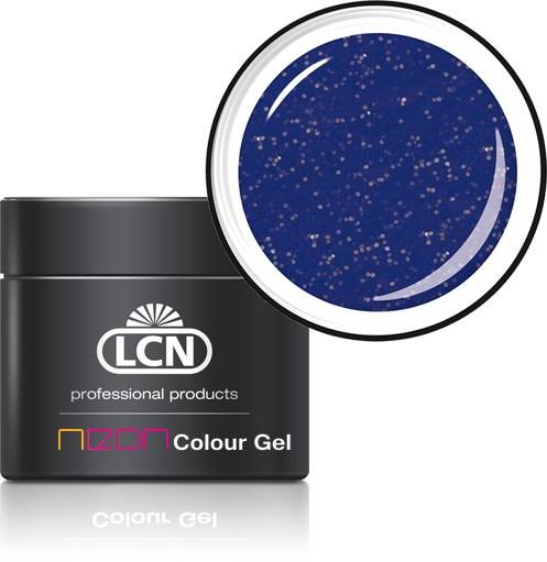 21180-3 glitter blue LCN Neon Farbgel