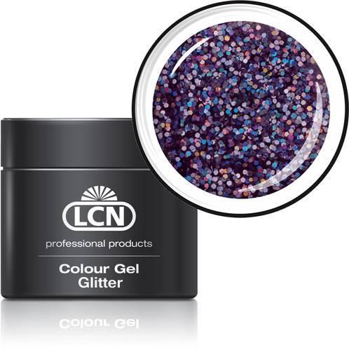 LCN Glitter Gel 20615-6 lavender hologram