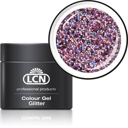 LCN Glitter Gel 20615-7 pink hologram