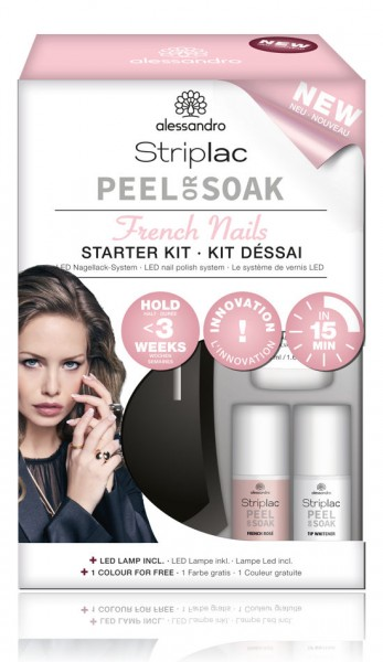 alessandro Striplac Peel or Soak Starter Kit French, 48-521
