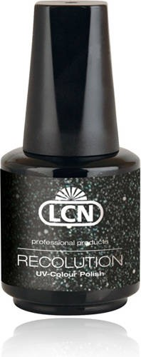 LCN Recolution Soak Off Black Silver Stars