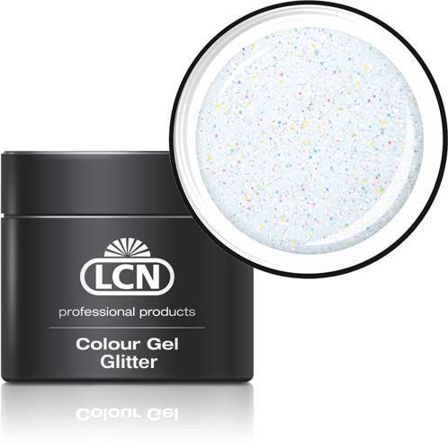 LCN Glitter Gel 20615-24 white hologram