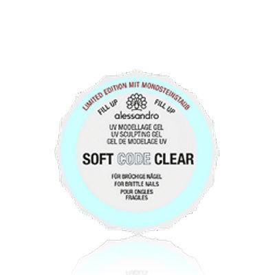alessandro Soft Code Gel Clear mit Mondsteinstaub, 01-105