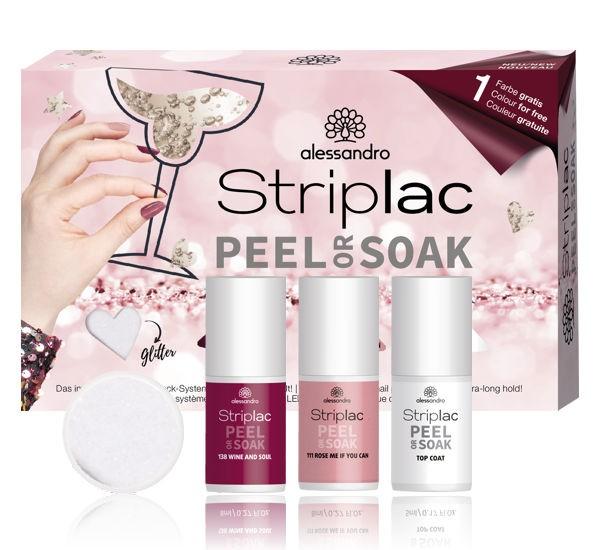 alessandro Striplac Peel or Soak Glitter Set, 21-580